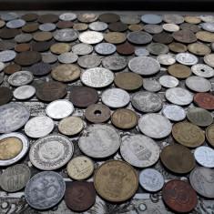 Lot mare de 164 monede diferite vechi romanesti si straine monezi bani diverse - Moneda Romania