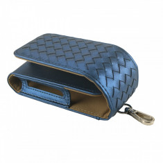 Husa Flip IQOS, din piele ecologica, negru, protectie 2in1 + slot Heets - Accesoriu tigara electronica