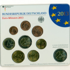Germania - Set monetarie Euro Germania 2013 G - Karlsruhe, Europa