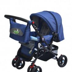 Carut dhs baby cu maner reversibil - Carucior copii 2 in 1 DHS Baby, Albastru
