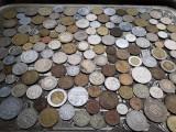 Lot mare de 158 monede diferite vechi romanesti si straine monezi bani diverse