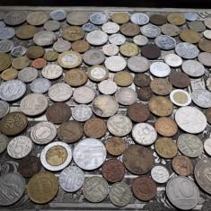 Lot mare de 158 monede diferite vechi romanesti si straine monezi bani diverse - Moneda Romania