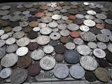 Lot mare de 165 monede diferite vechi romanesti si straine monezi bani diverse