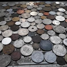 Lot mare de 165 monede diferite vechi romanesti si straine monezi bani diverse - Moneda Romania