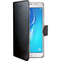 Husa Flip Cover Celly WALLY557 Agenda Negru pentru SAMSUNG Galaxy J5 2016 - Husa Telefon Celly, Piele Ecologica, Cu clapeta