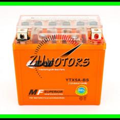 BATERIE Moto 5AH 5A 12V 5 Amperi cu GEL fara intretinere