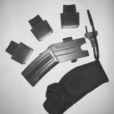 Pistol taser cu electrosoc, lanterna si laser