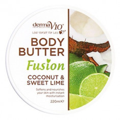Body Butter Fusion - Coconut & Sweet Lime - Crema de corp Derma V10