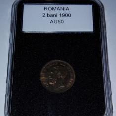 Romania 1900 - 2 bani aUNC, in capsula - Moneda Romania