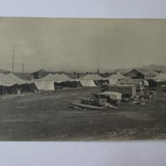 Foto colectie 140 x 90 mm corturi militare de campanie din anii 30 - Fotografie, Alb-Negru, Romania 1900 - 1950