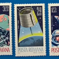 ROMANIA 1965- LP 611+ 619=17Lei, \COSMONAUTICAI+II''-2 SERII-nestamp.MNH(<50%), Stampilat