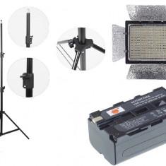 Kit lumina continua Lampa Yongnuo YN900 + 2x Acumulatori NP F+ incarcator+ stativ - Incarcator Aparat Foto