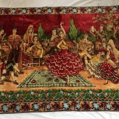 Carpeta de perete cu tematica spaniola veche vintage