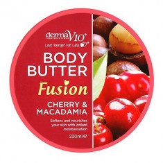 Body Butter Fusion - Cherry & Macadamia - Crema de corp Derma V10