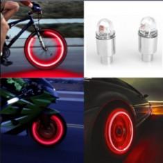 Car Accessories Bike Supplies Neon Strobe LED Tire Valve Caps Waterproof