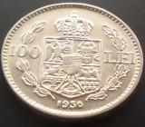 Moneda 100 Lei - ROMÂNIA, anul 1936 *cod  3492 ---DETALII EXCELENTE!
