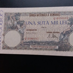 Bancnote romanesti 100000lei mai 1947 mai rara - Bancnota romaneasca