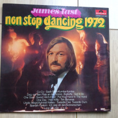 James last non stop dancing 1972 disc vinyl lp Muzica Pop Polydor rock jazz vest germany, VINIL