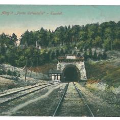 4218 - ORSOVA, Railway Tunnel - old postcard, CENSOR - used - 1918 - Carte Postala Oltenia 1904-1918, Circulata, Printata