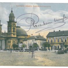 4211 - SATU-MARE, Maramures, Market - old postcard - used - 1911 - Carte Postala Maramures 1904-1918, Circulata, Printata
