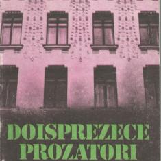 Carte -Doisprezece prozatori - Antologie proza scurta - Ed.Dacia 1988 - 234pag. - Carte Antologie