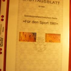 Carton prezentare speciala Ersttag - Pentru Sport 1981 Berlin