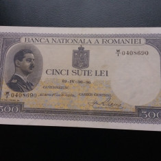 Bancnote romanesti 500lei 1936 xf - Bancnota romaneasca