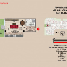 Garsoniera - Garsoniera de vanzare, 37 mp, An constructie: 2017, Parter