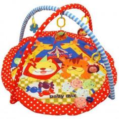 Saltea de joaca pentru copii Animals and Sweets - Tarc de joaca Baby Mix, Multicolor