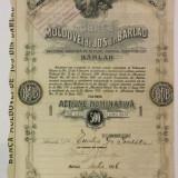 Banca Moldovei de Josa Barlad Actiune Nominativa 500 Lei 1926 Rara