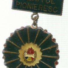 AMS - INSIGNA PIONIER MERITUL PIONIERESC VARIANTA MICA
