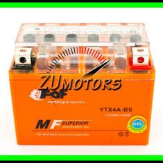 BATERIE Atv 4AH 4A 12V 4 Amperi cu GEL fara intretinere - Baterie Moto