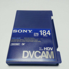 Casete video SONY DVCAM 184/276 minute