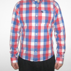 Camasa Originala Abercrombie & Fitch MARIMEA - XXL - Slim fit | cu maneca lunga - Camasa barbati Abercrombie & Fitch, Culoare: Din imagine