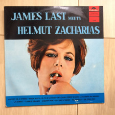 James last meets helmut zacharias disc vinyl lp Muzica Pop Polydor jazz germany 1967, VINIL