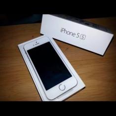 iPhone 5S Apple Nou cu garantie si factura FLANCO+ husa noua cadou, Argintiu, 16GB, Neblocat