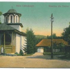 4219 - CALIMANESTI, Valcea, Schitul Ostrov - old postcard - used - 1908 - Carte Postala Oltenia 1904-1918, Circulata, Printata