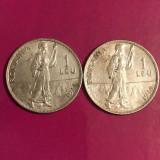 Lot 2 monede 1 leu 1914 - Moneda Romania