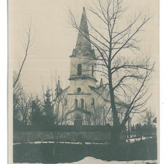 4212 - LEORDINA, Maramures, Church - old postcard, real PHOTO - unused - Carte Postala Maramures dupa 1918, Necirculata, Fotografie