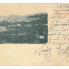 4233 - SIGHISOARA, Panorama, Litho - old postcard - used - 1899 - Carte Postala Transilvania pana la 1904, Circulata, Printata