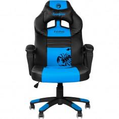 Scaun birou ergonomic gaming Marvo CH-105 blue NOU Garantie, Piele ecologica, Albastru