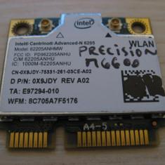 Placa wireless Dell Precision M6600, Intel Advanced-N 6205, 6205ANHMW, 0X9JDY