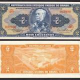 BRAZILIA. 2 CRUZEIROS 1956. UNC.