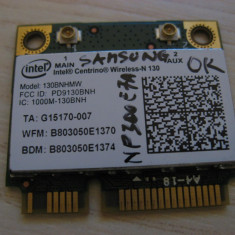 Placa wireless Samsung NP300E7A, Intel Centrino Wireless-N 130, 130BNHMW