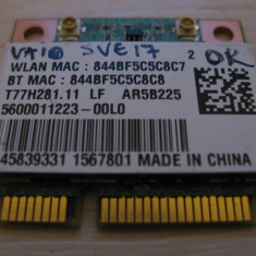 Placa wireless Sony Vaio SVE17, T77H281.11 LF, AR5B225