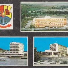 Vedere color, 105 x 150 mm, circulata, colaj, Tulcea, R. S. R., 1976 - Carte Postala Dobrogea dupa 1918, Printata