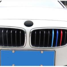 Emblema grila BMW M POWER dungi plastic BMW seria 3 2013-2018 8 grile - Embleme auto, Universal