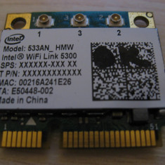 Placa wireless Acer, Fujitsu, eMachines, Intel WiFi Link 5300, 533AN_HMW