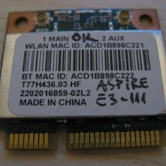 Placa wireless Acer Aspire E3-111, QCWB335, T77H436.03 HF