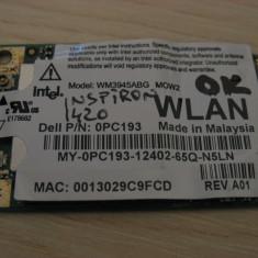 Placa wireless Dell Inspiron 1420, Intel WM3945ABG MOW2, 0PC193